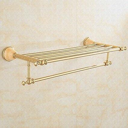 Hlluya Toallero Chapado en Oro de Jade Natural Toallas Toallas de baño de Oro-Cobre