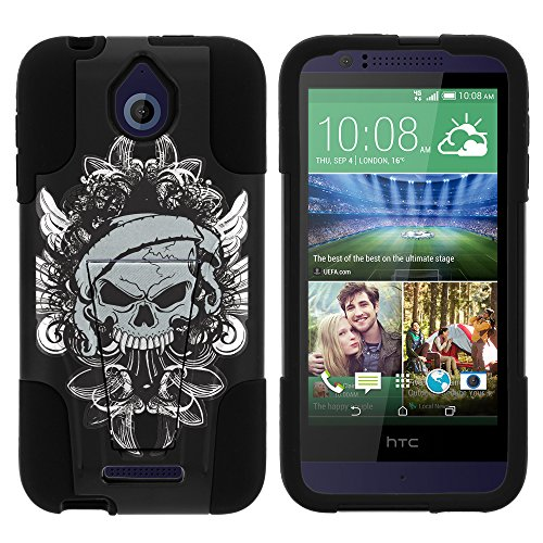 HTC Desire 510 Case, Dual Layer Shell STRIKE Impact Kickstand Case with Unique Graphic Images for HTC Desire 510 by MINITURTLE - Demon Skull