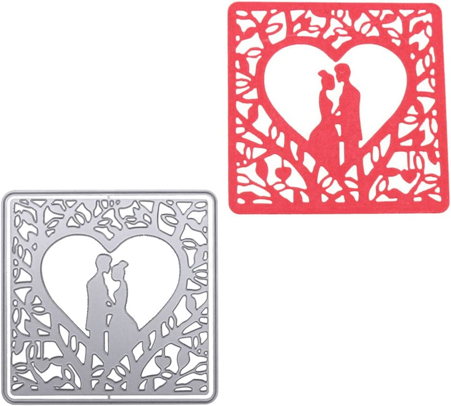 ULTNICE Cutting Dies Wedding Stencil Template Mould DIY Metal Embossing Stencil for Album Scrapbooking Card Craft Decor Romantic Lovers