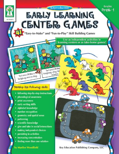 "Download Early Learning Center Games, Grades PK - 1: 41 ""Easy-to-Make"" and ""Fun-to-Play"" Skills Building Games pdf"