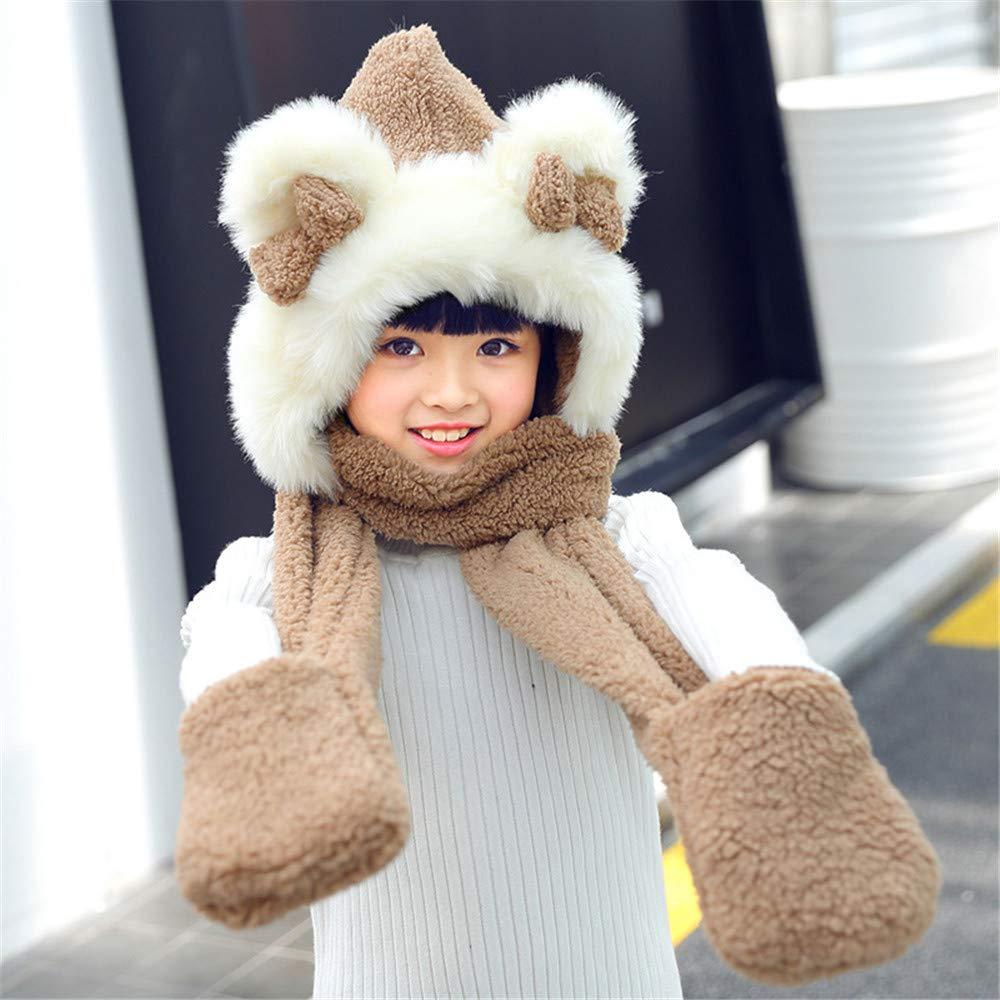 Y-WEIFENG Y-WEIFENG Y-WEIFENG New Unisex para niños Suave Invierno cálido con Capucha Bufanda Pañuelo de Cuello de la Bufanda Hoodie Hat (Color : D) a8c308