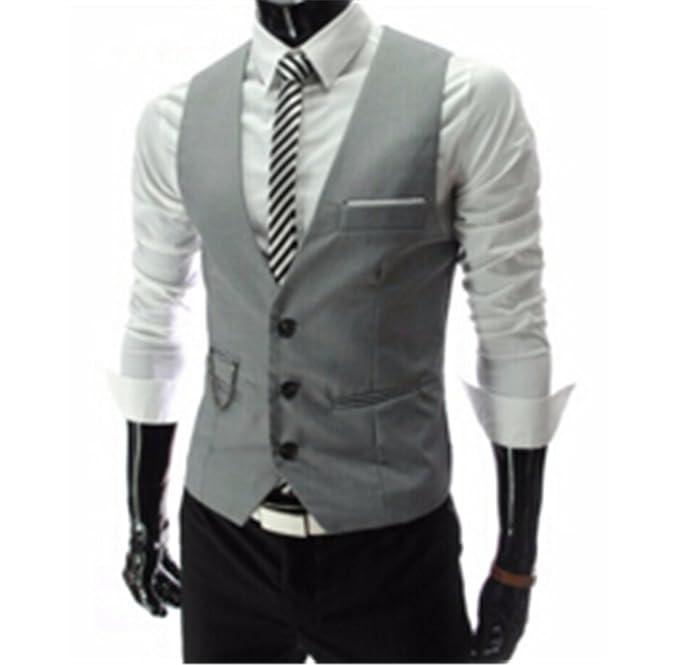 Jwhui Mens Vests Suit Sleeveless Male Waistcoat Vest Waistcoat ...