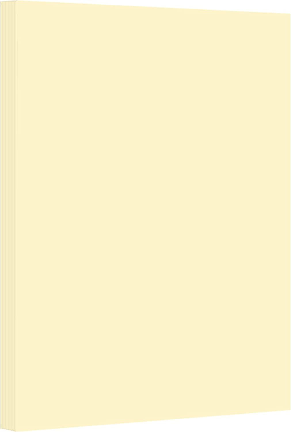 Ivory Pastel Color Card Stock Paper, 67lb Cover Medium Weight Cardstock, for Arts & Crafts, Coloring, Announcements, Stationary Printing at School, Office, Home | 8.5 x 11 | 50 Sheets Per Pack