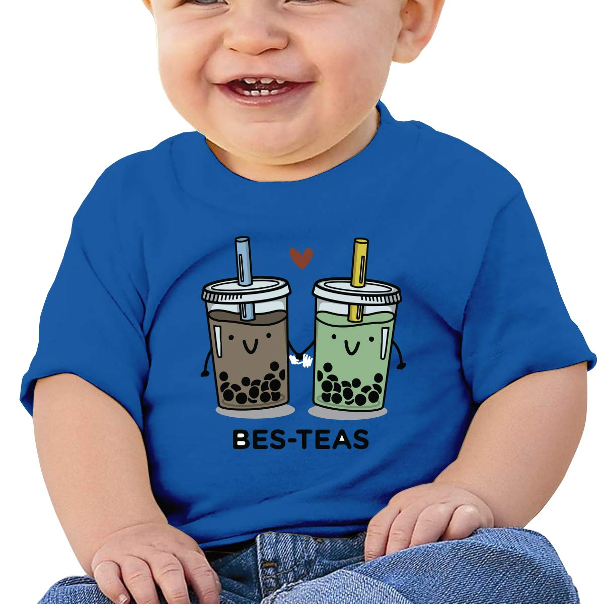 XHX403 BES-TEAS Bubble Tea Infant Kids T Shirt Cotton Tee Toddler Baby 6-18M