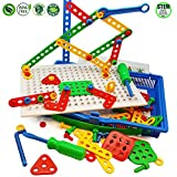 erector set drill - Skoolzy Educational Preschool Building Toys - 97pc Kids Construction Engineering Tool Set | Learning Tinker STEM Toys for Boys & Girls Nuts & Bolts Blocks for Kids