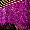Curtain Lights,SOLMORE 3m x 3m 300 LED Curtain Fairy String Lights,Window Light,Wedding Lights,Festival Icicle Lights, Indoor Starry Light for Xmas Christmas Wedding Party Home Wall Garden Decorations