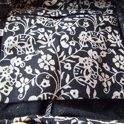 Wetsuit Crusade Yams Hippy Purse Handmade Design Ethnic Design For Black Elephant Bag Thai Sized Woman To With Text rwSrqUR
