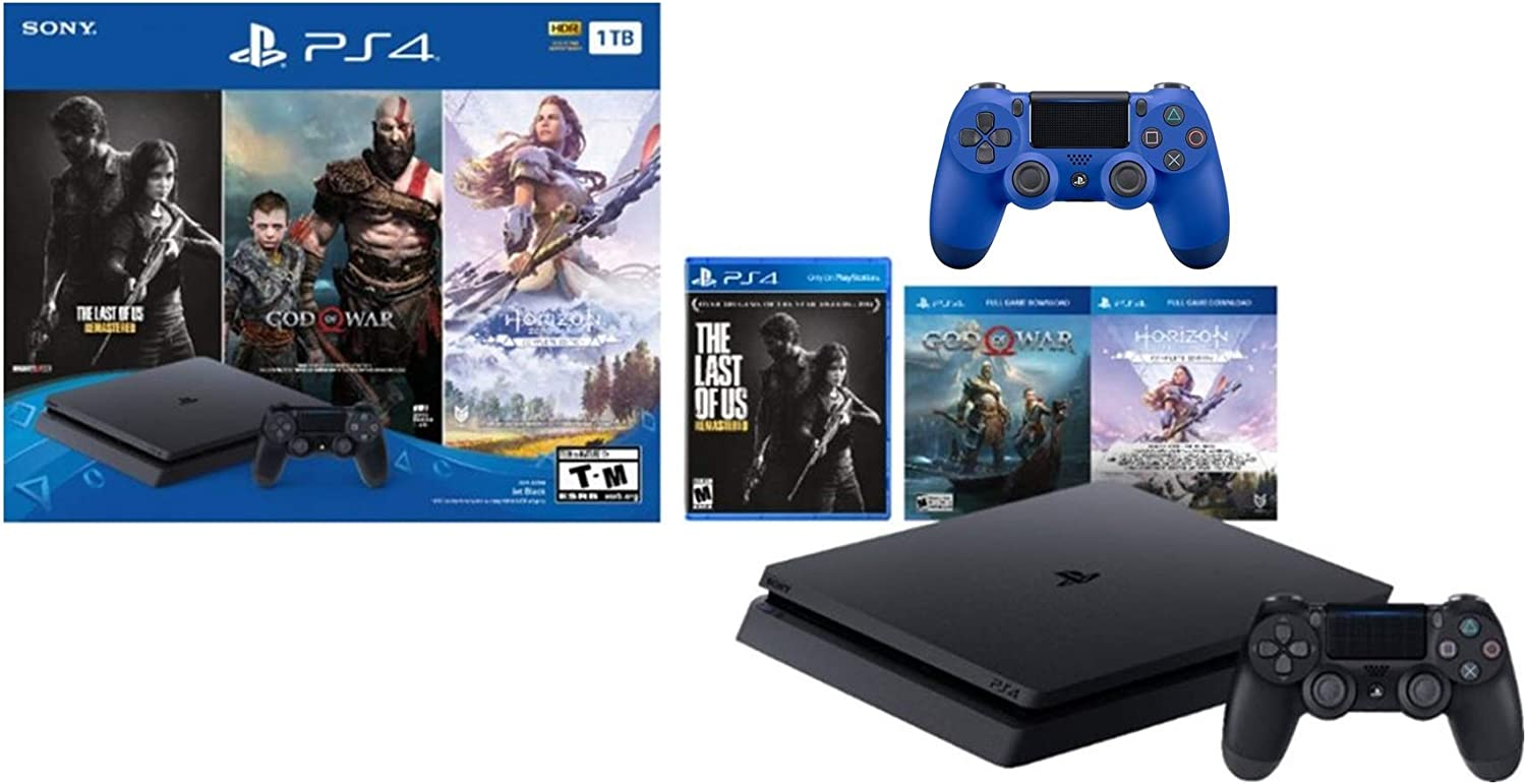 Sony PlayStation 4 1TB Holiday Bundle: PlayStation 4 1TB Slim ...