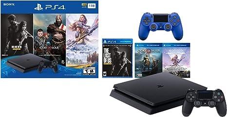 Sony PlayStation 4 1TB Holiday Bundle: PlayStation 4 1TB Slim ...
