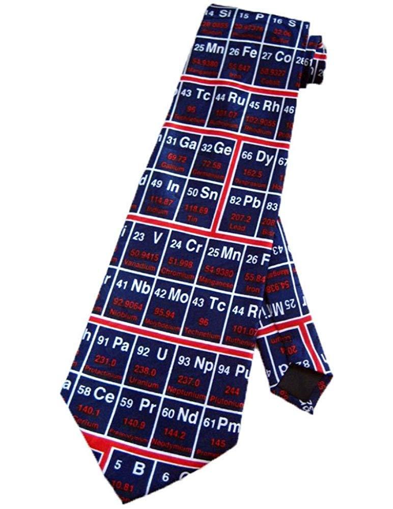 Corbata Tabla Periódica Corbata Química Corbata Azul Marino ...