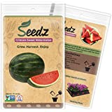 CERTIFIED ORGANIC SEEDS (Apr. 75) - Sweet Watermelon Heirloom Seeds - Organic Watermelon Seeds - Non GMO, Non Hybrid - USA