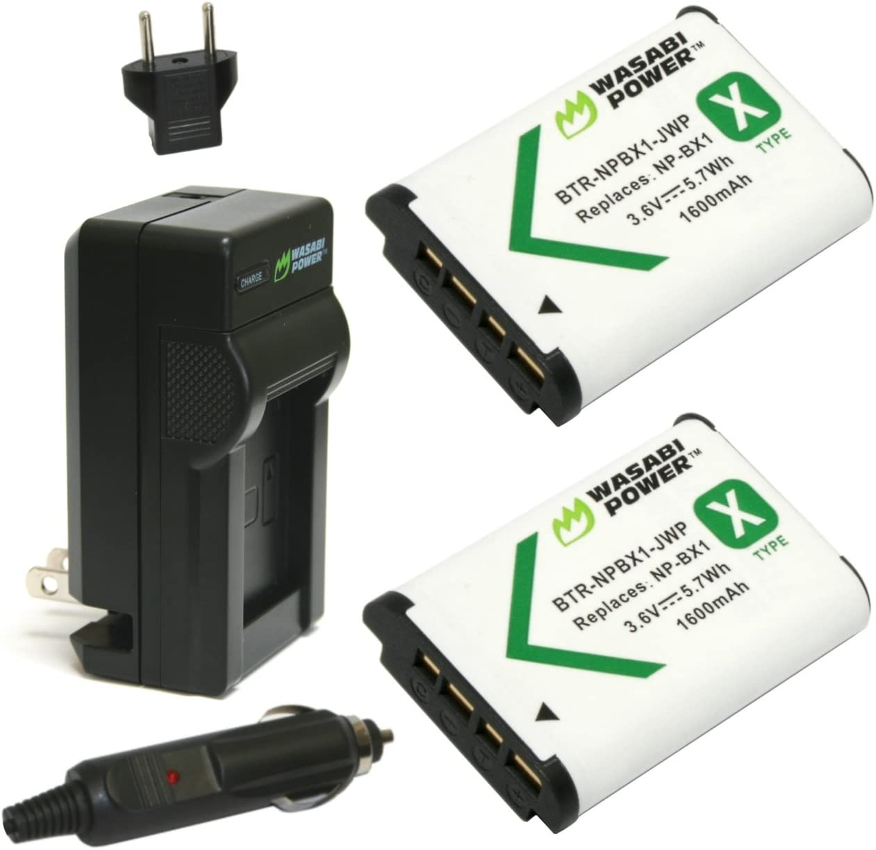 DSC-WX300 Battery Charger Kit for Sony Cybershot DSC-HX90 DSC-HX350