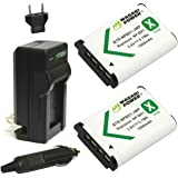 Wasabi Power NP-BX1 Battery (2-Pack) and Charger for Sony NP-BX1/M8, Cyber-Shot DSC-HX80, HX90V, HX95, HX99, HX350, RX1…