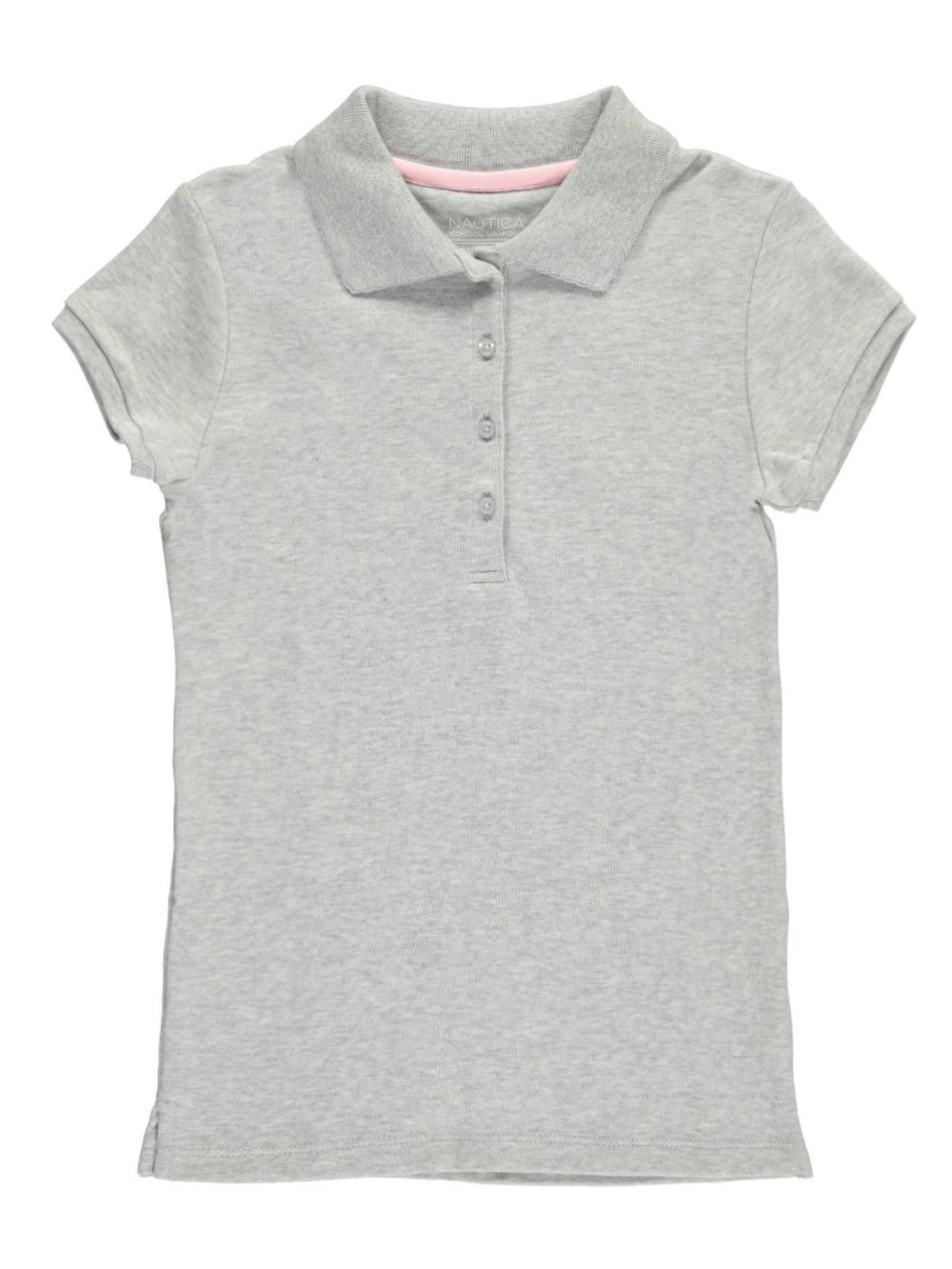 Nautica Girls Uniform Short Sleeve Polo Picot Stitch Collar IZ6093N