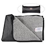 Waterproof Pet Blanket He&Ha Pet Dog Blankets Outdoor and Indoor with Storage Bag for Medium and Large Dogs and Cats (Large)