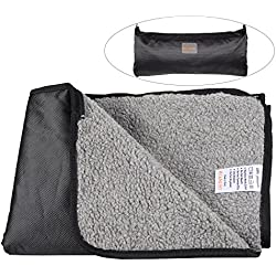 "He&Ha pet Waterproof Pet Blanket Dog Blankets Large Outdoor and Indoor for Medium and Large Dogs and Cats with Storage Bag (47"" Lx35 W)"