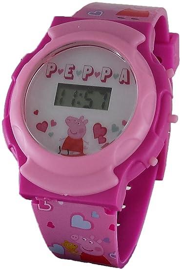 Peppa Pig – Reloj digital Rosa para niña con luz Up función (ppg4041)