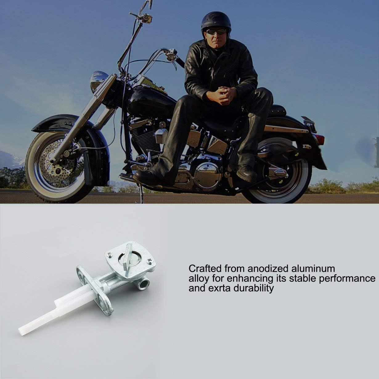 Silber camellia Benzinhahn Kraftstoffhahn Ventil Schalter EIN Aus Reserve F/ür Suzuki LT50 LTZ50 KFX50 Moto Zubeh/ör Auto-Styling
