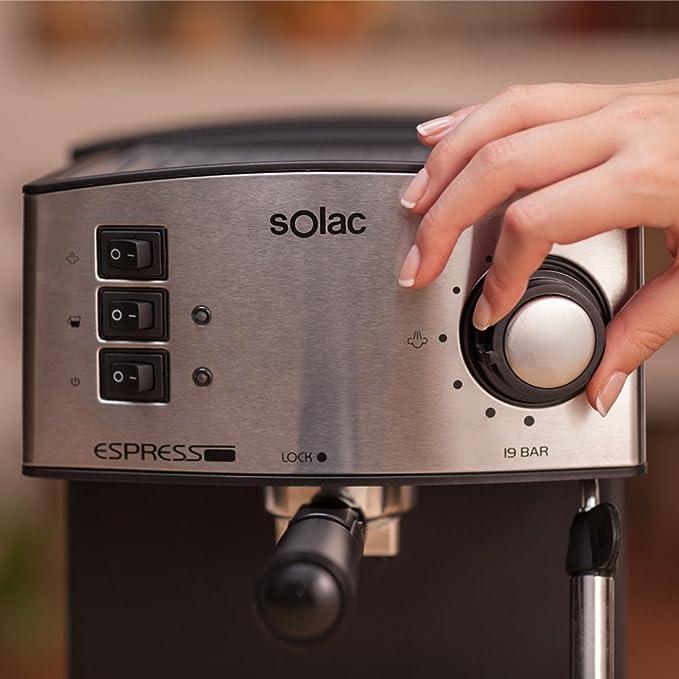 Solac CE4480 Espresso-Cafetera de 19 Bares con vaporizador, 850 W ...