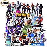 80 Pcs For-tnite Stickers Party Decorations Game Decals Stickers For For-tnite Gamer For-tnite Battle RoyaleThemed Birthday Party Supplies Favors For Kids Adults