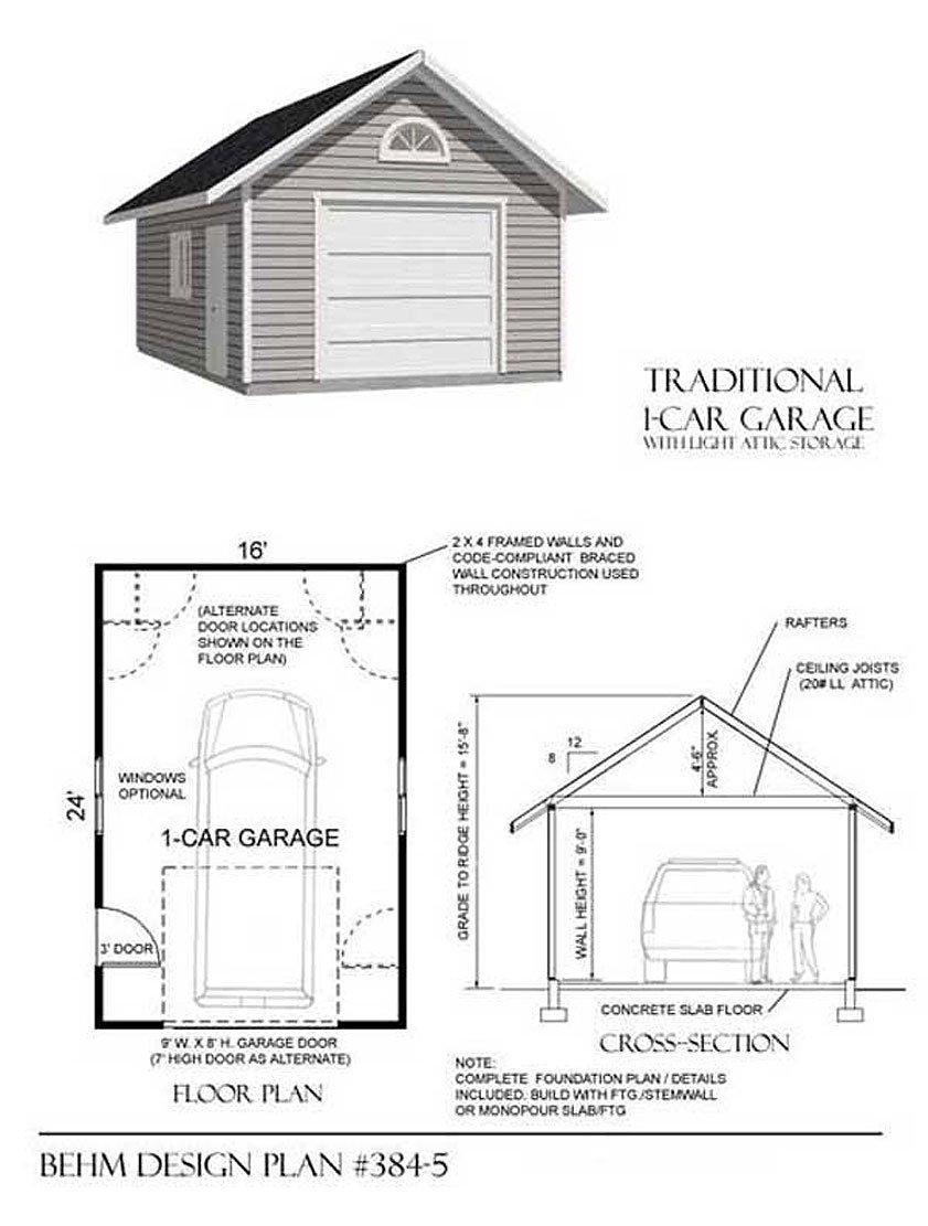 16x24 Garage Framing Plans   www.topsimages.com