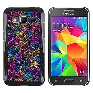 Be Good Phone Accessory // Dura Cáscara cubierta Protectora Caso Carcasa Funda de Protección para Samsung Galaxy Core Prime SM-G360 // Colorful Robots Future Art Wallpaper Ai Machine