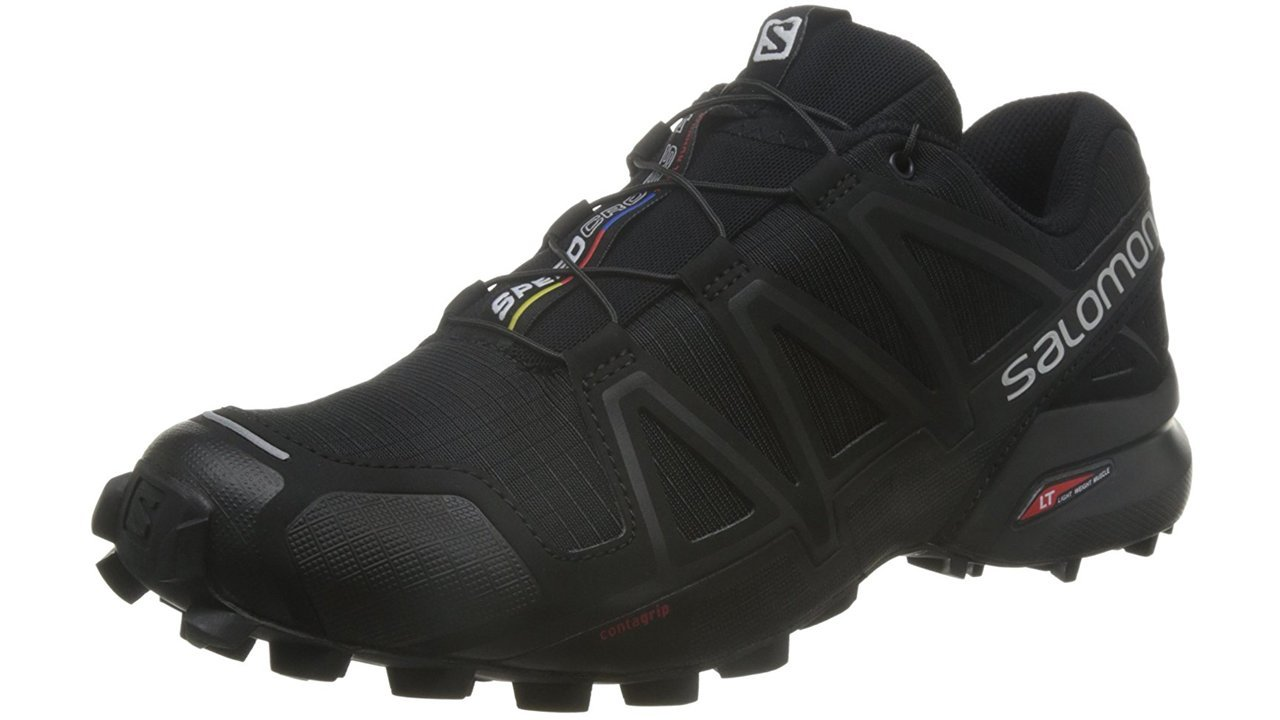 Salomon Men's Speedcross 4 Trail Runner, Black A1U8, 10.5 M US by Salomon