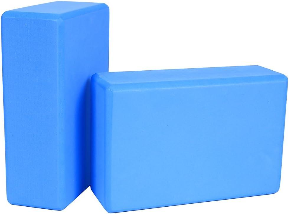 ValueHall 2 Pack Yoga Blocs Haute densit/é EVA Foam Blocs Yoga Pilates /étirement Outil dexercice
