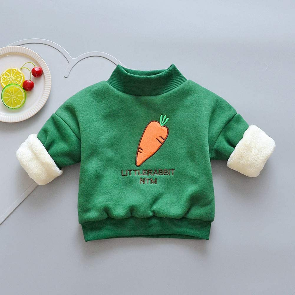 Girls Fashion Kids Sport Winter Clothes Cotton Plus Velvet TurtleneckSweatshirts for Girl Warm Children T-Shirts Jackets