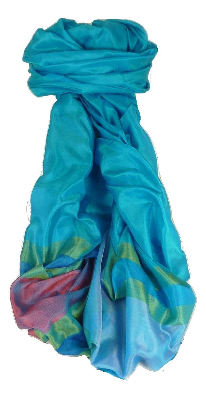 Varanasi Border Premium Silk Long Scarf Heritage Range Dasgupta 517 by Pashmina & Silk