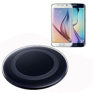 Malloom®Para Samsung Galaxy S6 / S6 Edge Cargador inalámbrico Qi Pad de carga Base de carga(Negro)