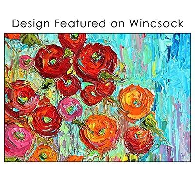 Toland Home Garden 162521 Fabulous Flowers Decorative Windsock, Multicolor : Garden & Outdoor