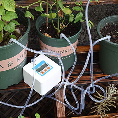OYSIR Automatic Drip Irrigation Kit,Self Watering System Timer Irrigation Controller Indoor Plant Auto Watering Planter Pot with USB for Indoor Plants
