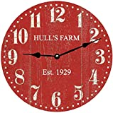 Cheap Personalized Barn Red Clock- Personalized Red Wall Clock