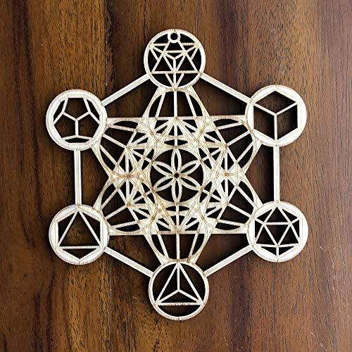 ZenVizion 5.31' Metatron's Cube, Wooden Wall Art...