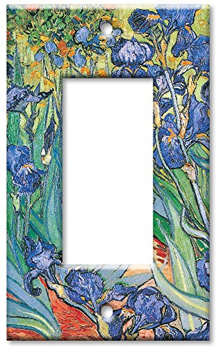 Art Plates - Van Gogh: Irises Switch Plate - Single Rocker
