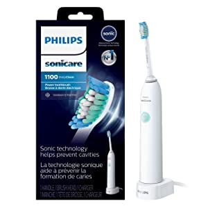 Phlips Sonicare DailyClean 1100 Rechargeable Electric Toothbrush, White, HX3411/04