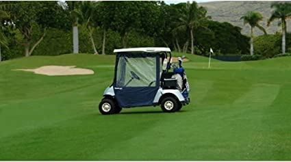 Amazon.com: Escudo de golf carrito de golf Enclosure (Clear/Navy ...