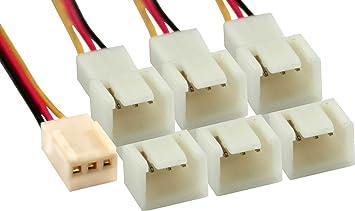 Inline - Adaptador para cable de ventilador de ordenador (conector ...