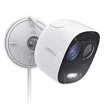 Imou Cámara de Vigilancia WiFi Exterior, Cámara IP WiFi 1080P IP65 Impermeable, Discuasión Proactica con Luces y Sonidos de Alarma, Visión ...