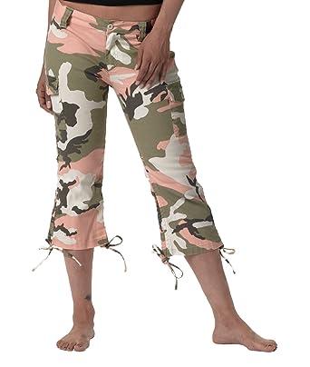 Amazon.com: Women's Subdued Pink Camo Vintage Capri Pants: Clothing