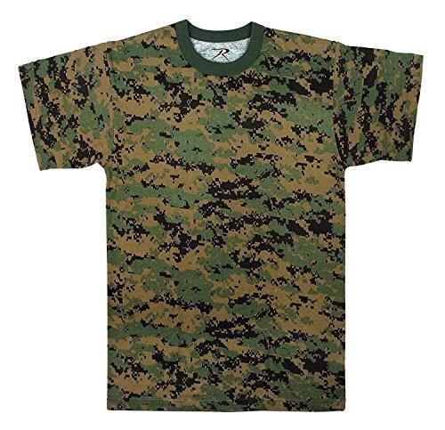 (Rothco Kids T-Shirt, Woodland Digital Camo, Medium)