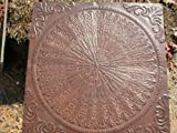 Giant Concrete Victorian English Feather Design Steppingstone Mold - #SS-2424A