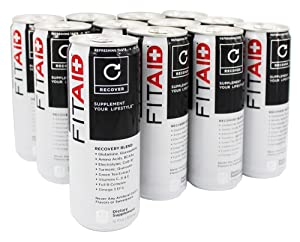 FITAID Recovery Blend | 100% Clean & Paleo Friendly | No Artificial Colors, Flavors or Sweeteners | BCAAs, L-Glutamine, L-Arginine, Omega 3s, 12 Ounce Can (Pack of 12)