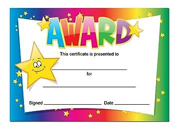 award certificates 16 x a6 cards schools teachers kids rainbow