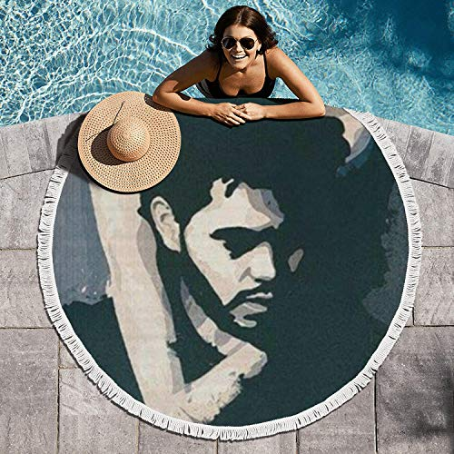 MakSports Tapestries Sofa Cover Roundie Circle Beach Towel Blanket 60in Large Thicker Style Microfiber Picnic Circular Beach Towel Blanket Soft - The Weeknd Xo Blanket
