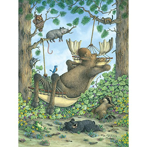 Hammock Pc (Bits and Pieces - 500 Piece Jigsaw Puzzle for Adults - Take It Easy - 500 pc Moose in a Hammock Jigsaw by Artist Jeffrey Severn)