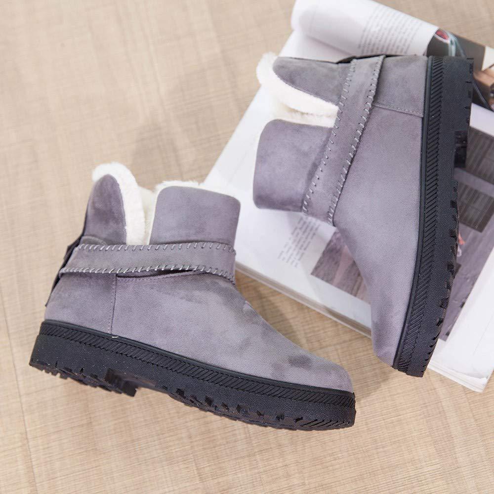 Sencillo Vida Botines Mujer Invierno Botas de Nievede Piel Medio Ancho Ante Botita Casual Tobillo Ankle Boots Suede Zapatos: Amazon.es: Zapatos y ...