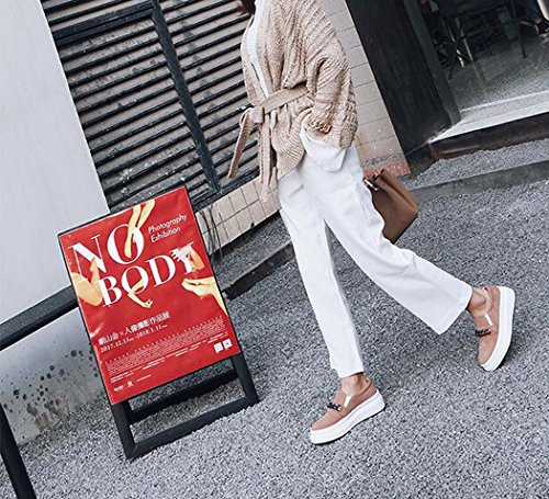 Zapatos de Tamaño Planos Rosado Tamaño Zapatos Gris Ligero de de Solo 34 Metal Diseño Cadena de Mujer Plataforma 39 de Color 39 Rosa Confort de qXBnpxBvUw