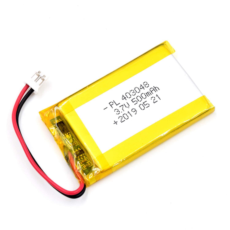 Bateria Lipo 3.7V 500mAh 403048 Recargable JST Conector